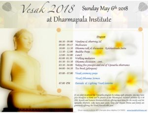 Vesak - May 6th (Sunday)