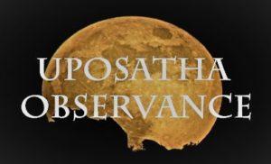 Dhamma Sunday - Uposatha Observance !!!